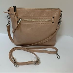 ENZO ANGIOLINI Pink Leather Crossbody Shoulder bag